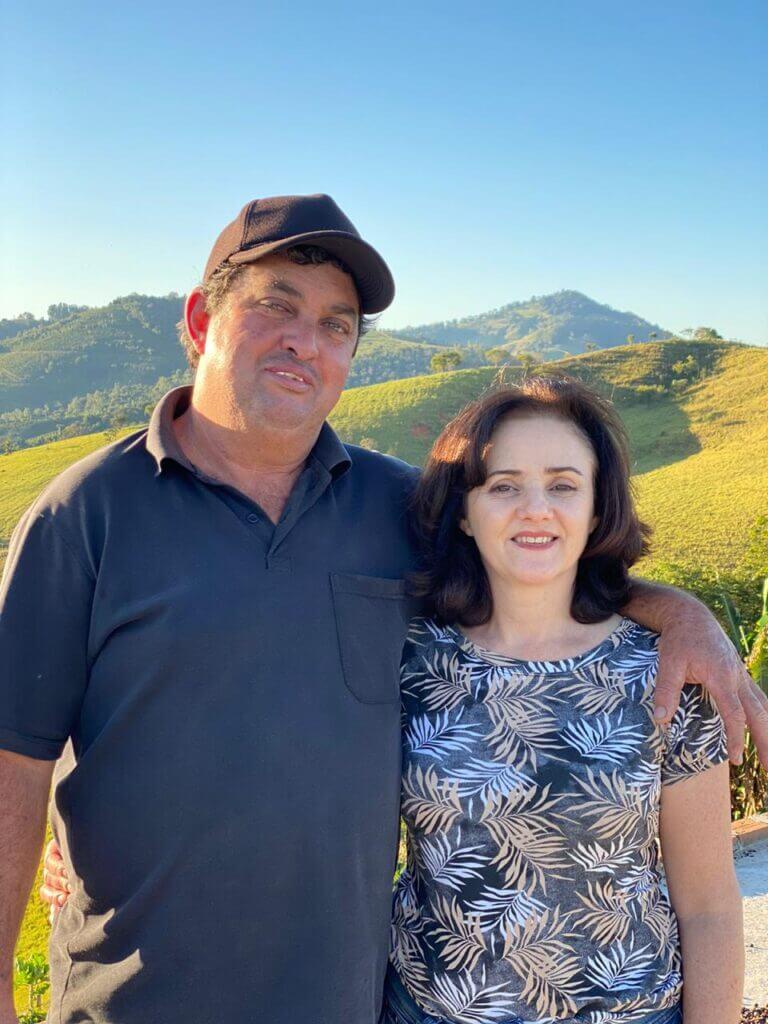 Produtores de café, Paulo e Rosa, do Sítio Jacarandá em Cachoeira de Minas - MG